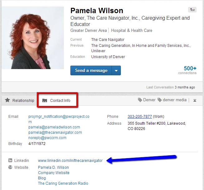 Pamela D Wilson LinkedIn Profile
