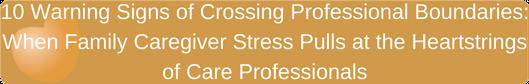 Crossing Professional Boundaries